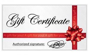 Massage Victoria Gift Certificate